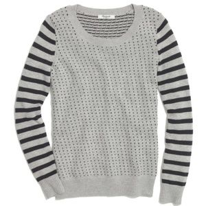 MADEWELL Striped Birds Eye Sweater Pullover {BB21}